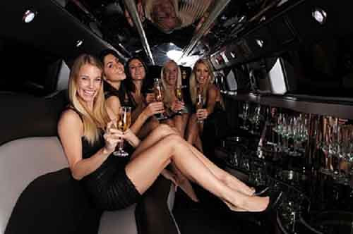 a bachelorette party limo