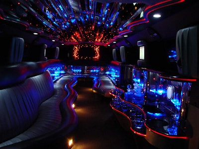 inside our stretch limousine